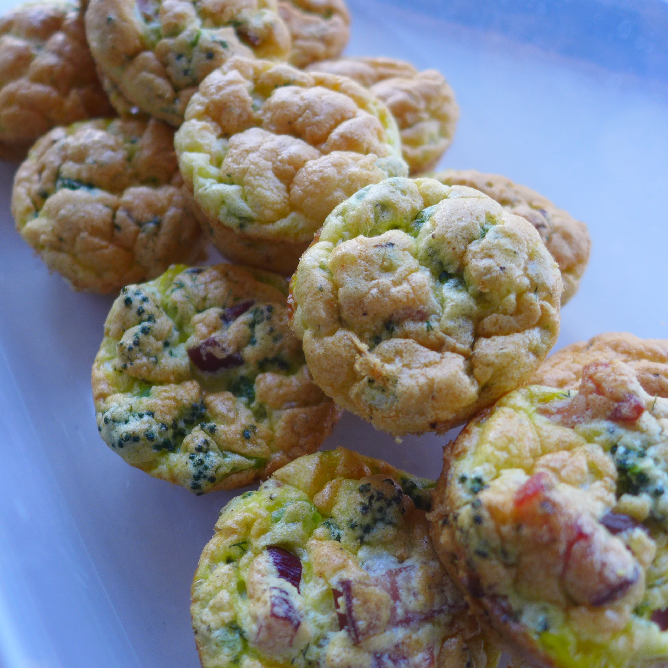 paleo bacon, egg, and broccoli muffins